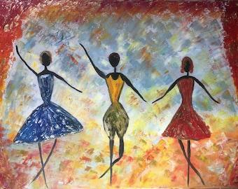 Ballet 50x70 cm oil