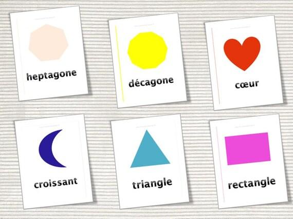 Imagier des formes géométriques - 22 cartes à imprimer