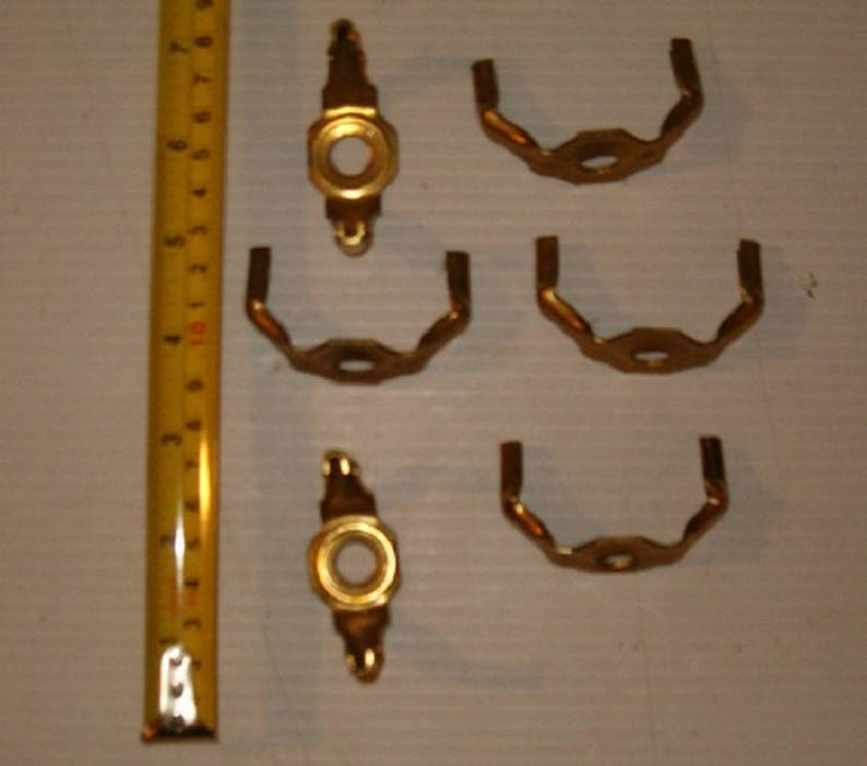 Vintage Lamp Parts 12 Brass Colored Lamp Cradle Free Shipping !! Shade Holder