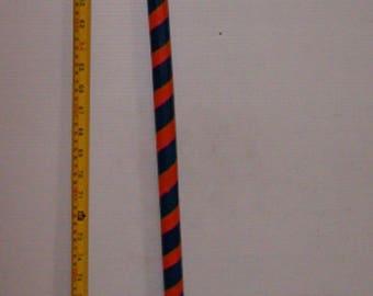 "Hand Painted Auburn War Eagles Football Color 36"" Wooden Walking Stick , Walking Cane"