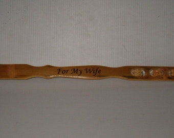 "18""  For My Wife Wooden Back Scratchier  With Massage Wheels, Wife's Gift From Husband"