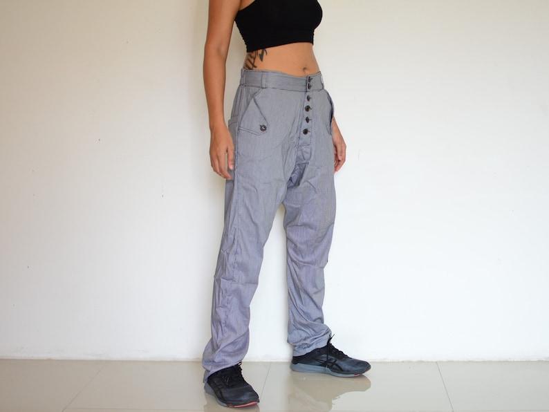 Baggy pants handmade unique item Drop Crotch pants Harem pants men women