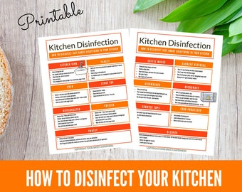 Home Cleaning Printable, Kitchen Cleaning Resource, Cleaning Planner Printable, Cleaning Schedule