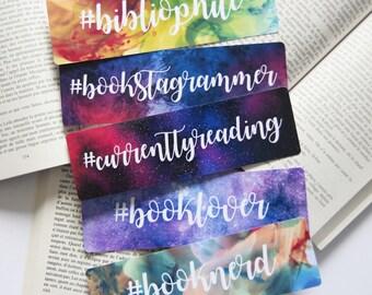Currently reading - Bookstagrammer - Bibliophile - Booknerd paper bookmark   Bookstagram   Reader