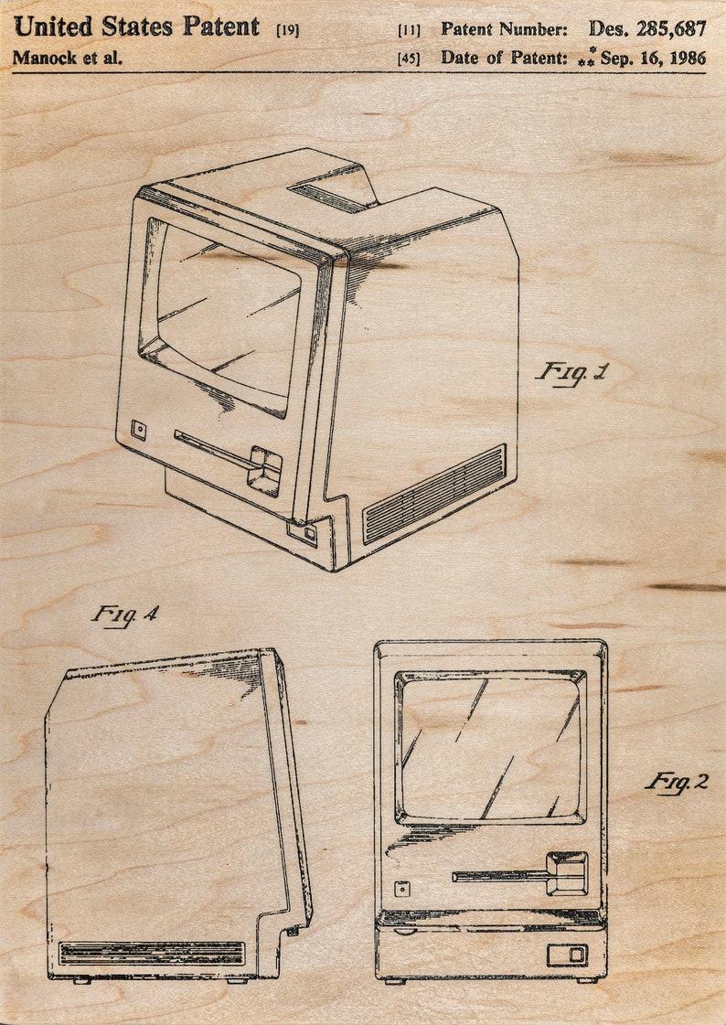 Macintosh Patent WOOD ETCHING