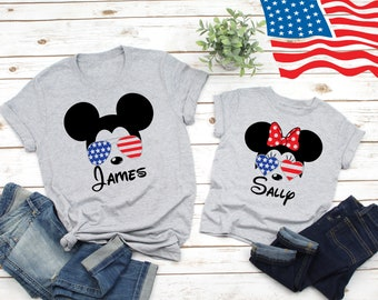 614dfdf3c Disney patriotic shirts, Disney family shirts, Disney 4th of July, Disney  american flag, Mickey american flag, patriotic Disney, family