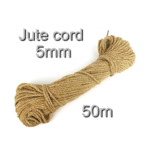 Kabel Hanfseil Kunst Natürlich Braun Jute Schnur String DIY Dekoration