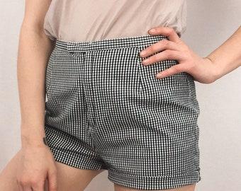 High Waisted Gingham Shorts