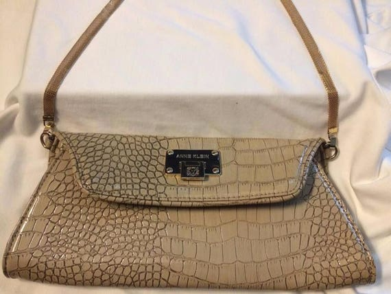 Vintage Anne Klein Alligator Purse Clutch, Anne Klein Purse, Anne Klein Purse, Vintage Anne Klein, Anne Klein Vintage, Anne Klein Handbag