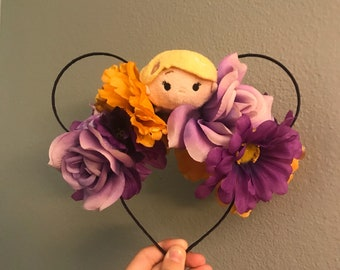 Tangled Floral Mouse Ears