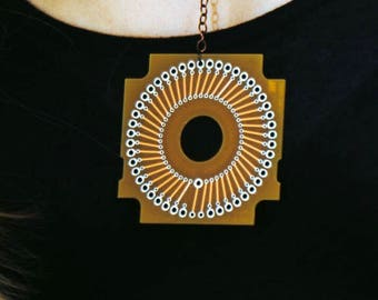 Circuit board Necklaces and Earrings