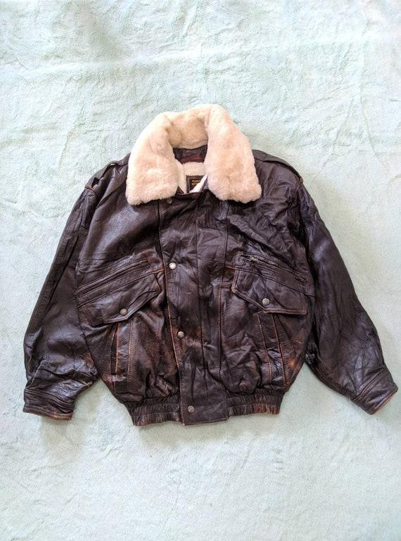 Leather Flight Jacket Intermedia - 1980s