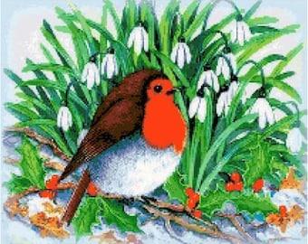 Christmas Robin Cross Stitch Chart