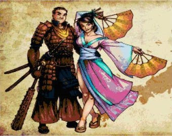Samurai & Geisha Cross Stitch Chart