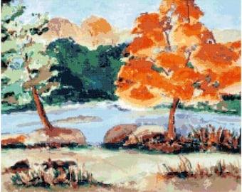 Autumn Foliage Cross Stitch Chart