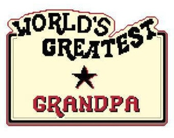 World's Greatest Grandpa Cross Stitch Chart