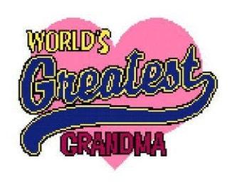 World's Greatest Grandma Cross Stitch Chart