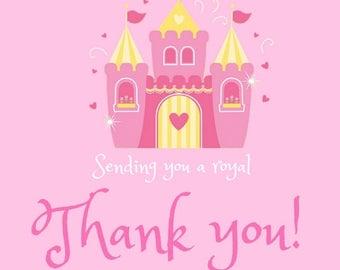 Princess Party Thank You