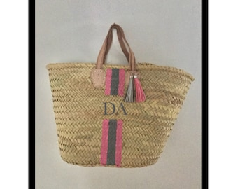 Small personalised straw bag all colours available