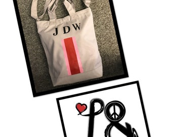 Personalise canvas messenger bag all colours available up to 3 intiails