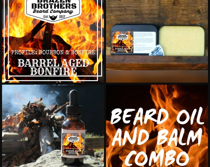 Barrel Aged Bonfire Oil/Balm Combo- Bourbon and Bonfire Smoke