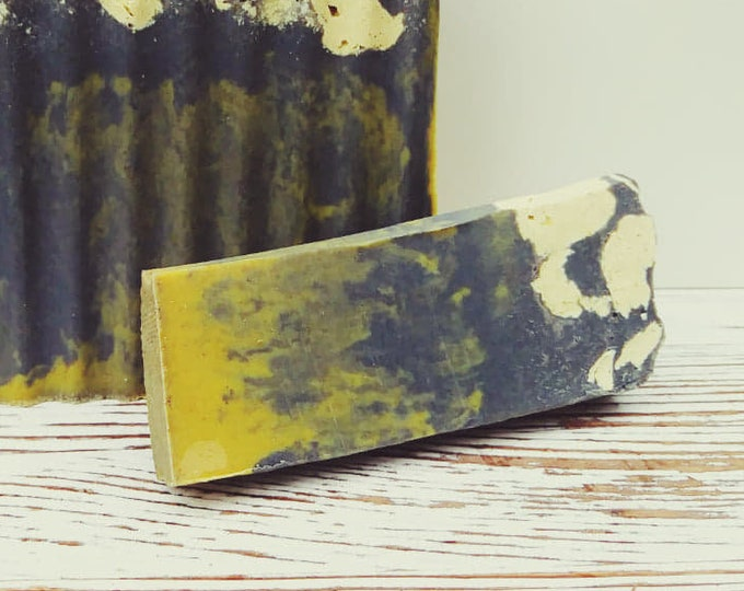 SAMPLE- Soul-Shine Clean-Me-Beard Bar (No Grit): Citrus and Patchouli, Sweet and Musky, Moisturizing, Handcrafted (Gluten-Free and Vegan)