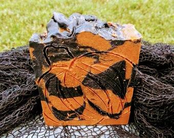 Beardless Horse Man Clean-Me-Beard Bar: Pumpkin Spice, Scorched Jack-O-Lantern Candle Smoke, Seasonal Scent, Fall Scent