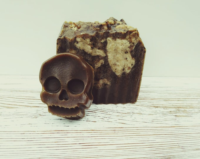 Unfiltered Clean-Me-Beard Bar with Grit: Coffee, Cardamom, Exfoliating, Moisturizing, Handcrafted (Gluten-Free and Vegan)