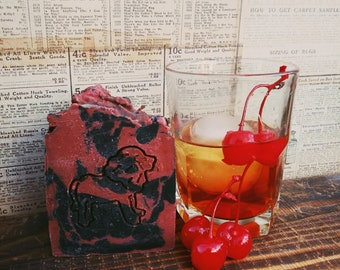 Roaring Twenties Beard Soap- Beard On Collaboration, Old Fashioned Cocktail Scent, Cherry, Tobacco, Sandalwood