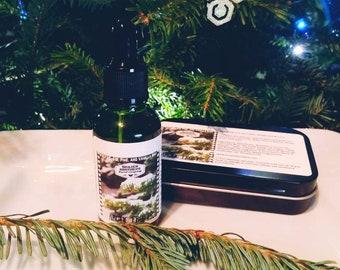 Arctic Frost Beard Combo- Oil/Balm- Vanilla, Pine, Fir, Peppermint