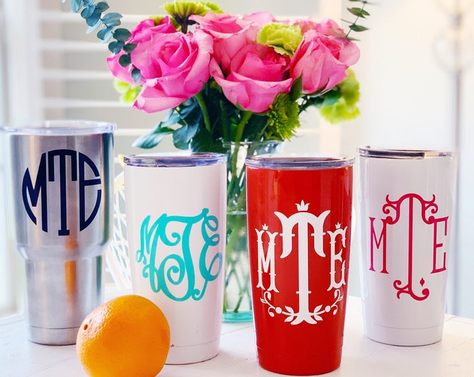 Monogram Decal for Yeti Tumbler