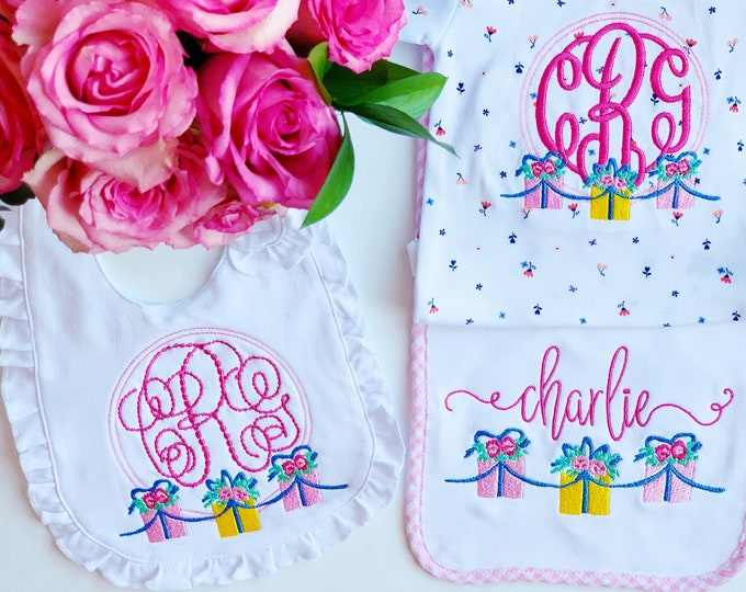 Monogrammed Baby Gift Set