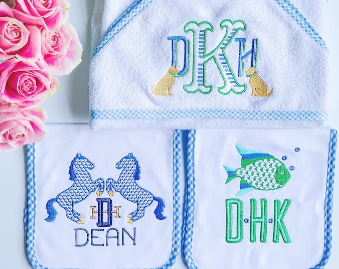 Monogrammed Hooded Baby Towel