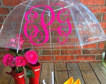 Monogrammed Clear Umbrella