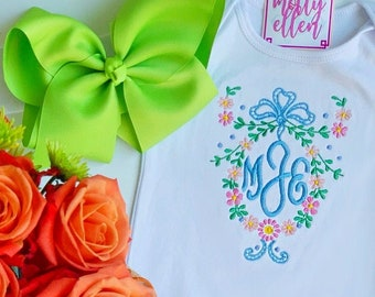 Baby Girl Coming Home Outfit, Monogrammed, Personalized, Newborn Coming Home, Gown, Baby Shower Gift, Monogram Gown, Baby Girl Gown, Custom