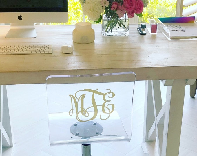 Acrylic Chair Monogram