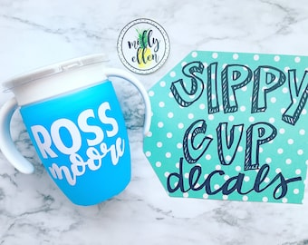 Sippy Cup Decals