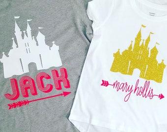 Personalized Disney World Shirts, kid sizes