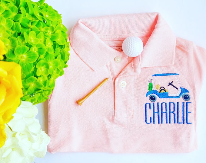 Boy Monogrammed Polo, Boy Dress Shirt, Boy Personalized Polo, Boy button down, Boy dress shirt, Boy Monogrammed shirt