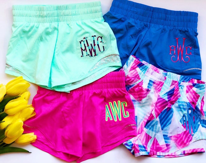 Monogrammed Running Shorts - Youth Sizes