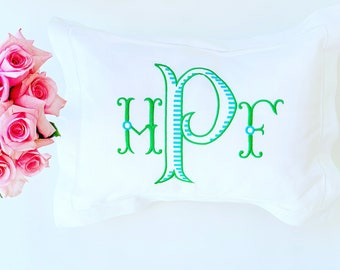 Monogrammed Baby Pillow, Boudoir Baby Pillow, Personalized Baby Gift, Decorative Throw Pillow, Nursery Pillow, Baby Monogrammed Pillow