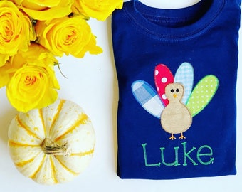 Boys Thanksgiving Turkey Shirt