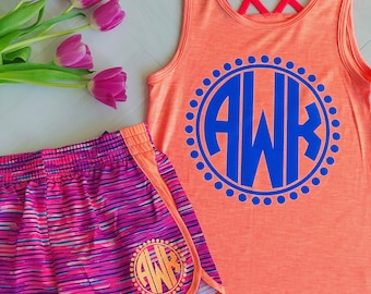 Girls Monogrammed Tank Top