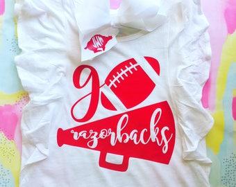 Girls Razorback Ruffle Shirt