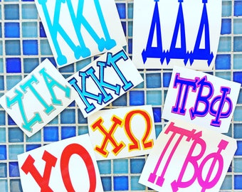 Sorority decals - Greek decals - FREE SHIPPING