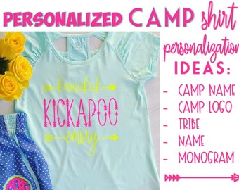 Summer Camp - Personalized Camp Shirt - Girls Shirt - Monogrammed Shirt - Summer Camp Gear - Personalized Gift - Camp Tribe - Camp Name