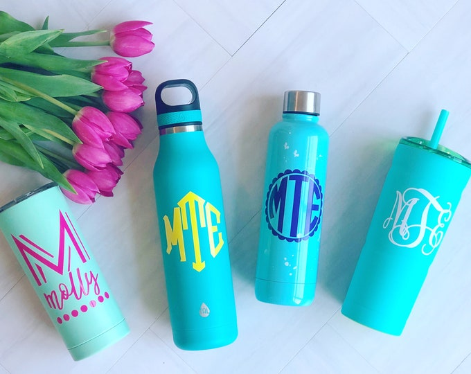 Water Bottle Monogrammed Decal