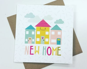 New Home Happy Houses Card
