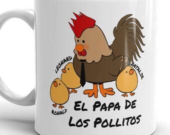 Gift for Dad, Regalo para Papa, Cumpleanos de Papa, Regalo de Dia de los Padres, Spanish gift, Taza de Cafe, Para Papa