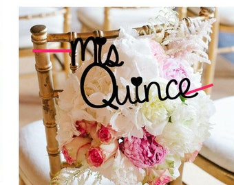 Mis Quince, Quinceanera, 15 anos chair decoration.